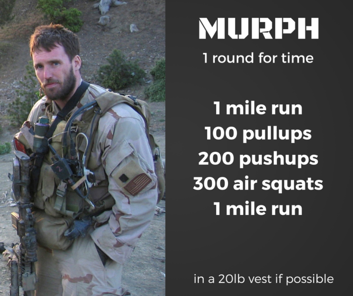 Murph memorial day hero workout CrossFit